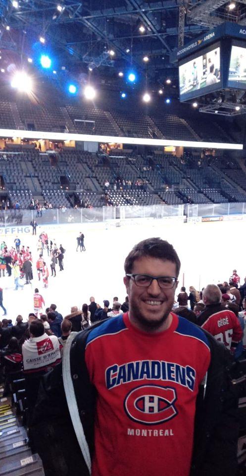 A Bercy, lors de la Coupe de France de Hockey sur Glace 2019