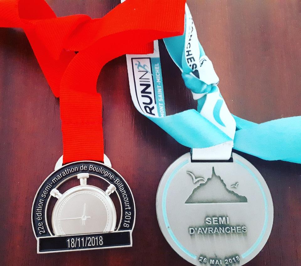 Médailles semi-marathon