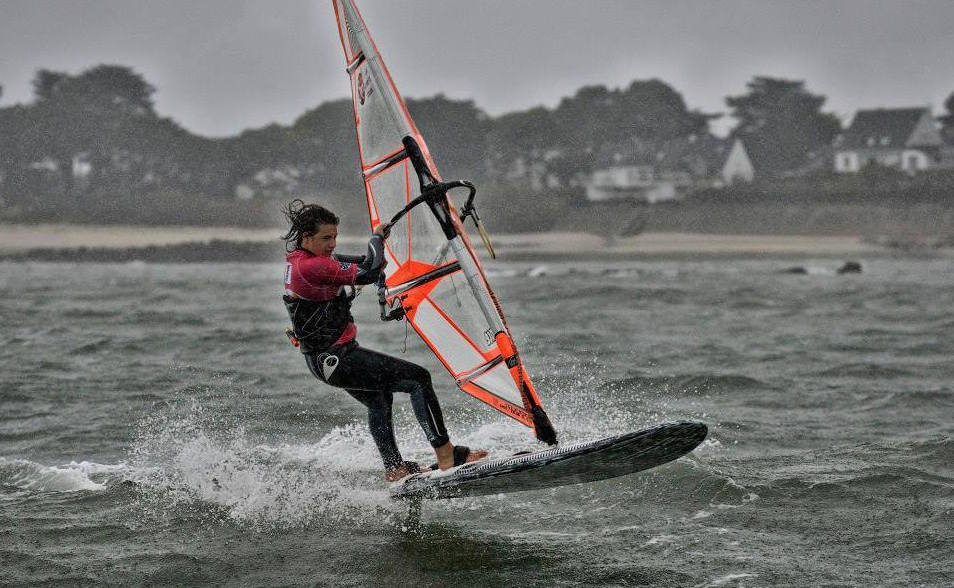 Marine Hunter, une windsurfeuse à Paris