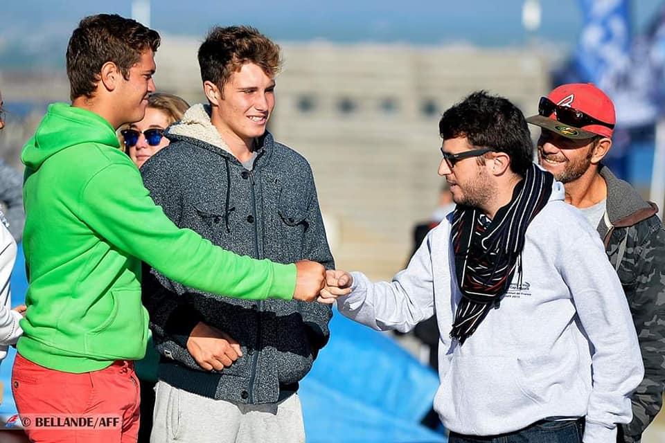 Championnat de France Windsurf slalom AFF avec Damien Arnoux, Erik et Jimmy Thiémé
