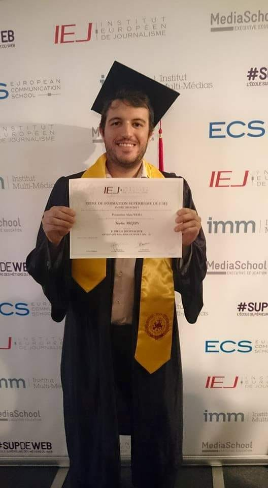 Diplome journaliste de sport IEJ