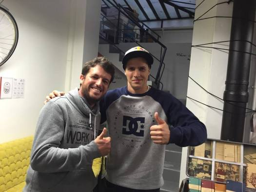 Avec Tom Pagès