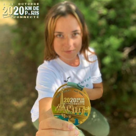 Médaille 20km de Paris connecté 2020