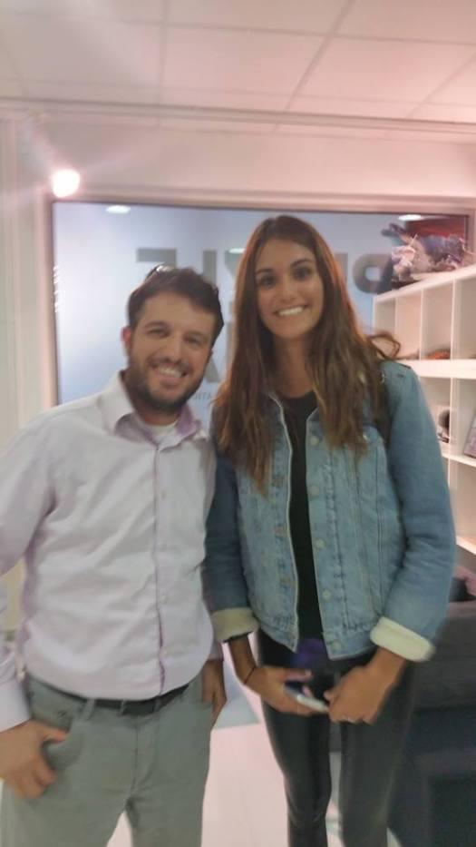 Avec Victoria Vergara
