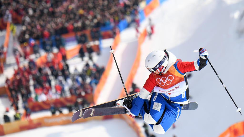 Marie Martinod lors des Jeux Olympiques 2018 / AFP PHOTO / LOIC VENANCE