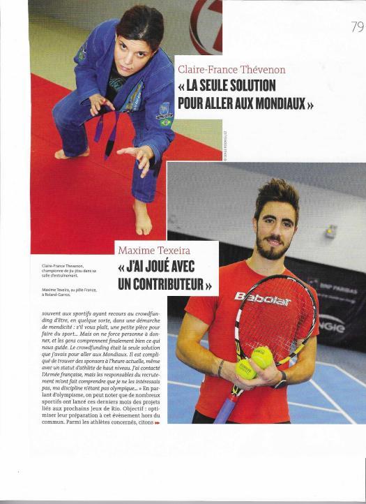 Page 2 Article Mécénat d'Athlètes - Crowdfunding sportif