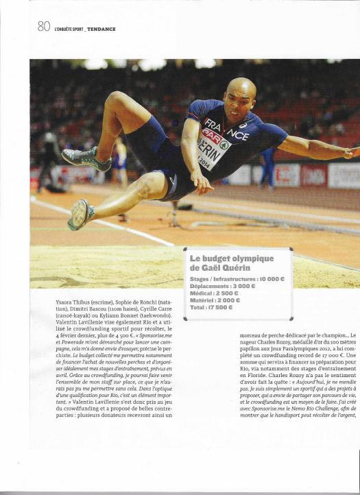 Page 3 Article Mécénat d'Athlètes - Crowdfunding sportif