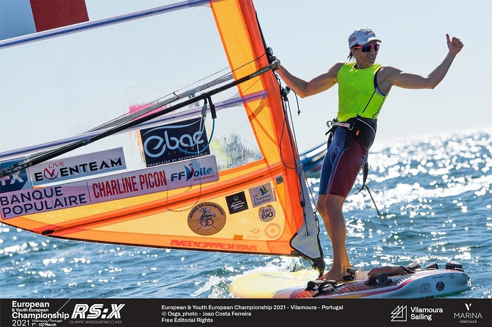 Charline Picon Championnats d'Europe RSX 2021 - Photo Joao Costa Ferreira